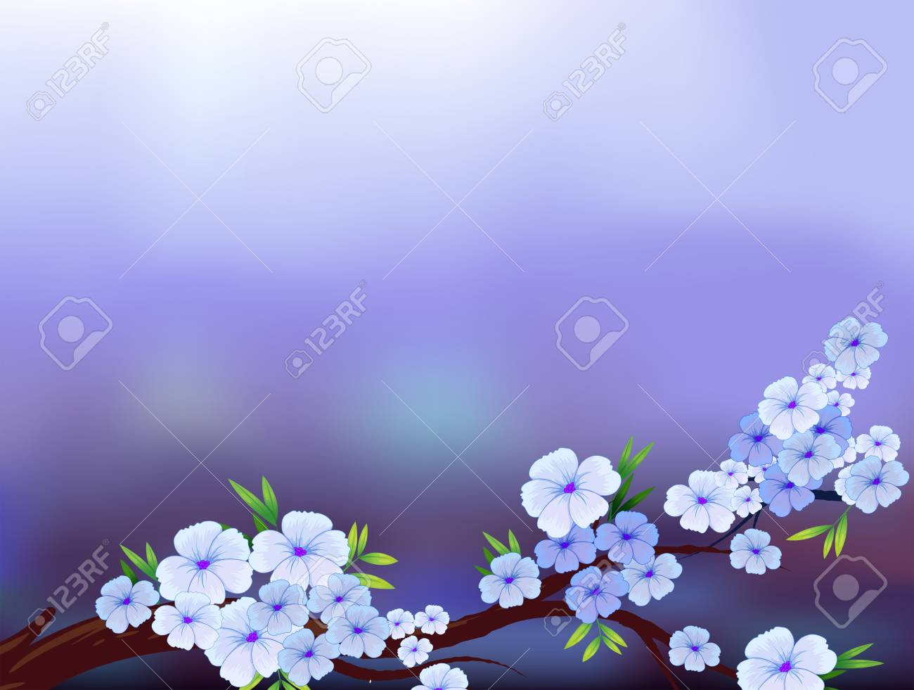 Illustration of a stationery design with blooming flowers Stock Vector - 18610913