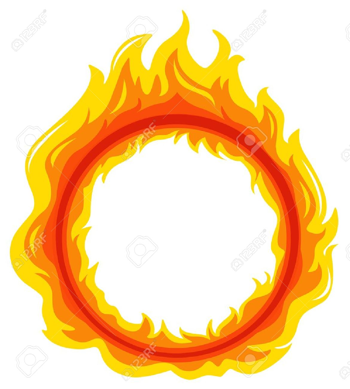 Illustration of a fireball on a white background - 18715798