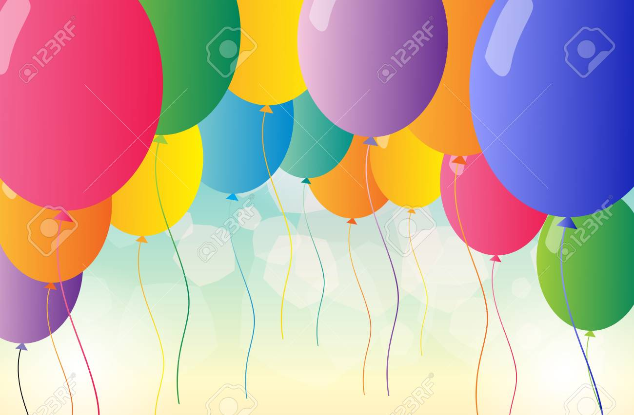 Illustration of the colorful balloons for a party Stock Vector - 18789141