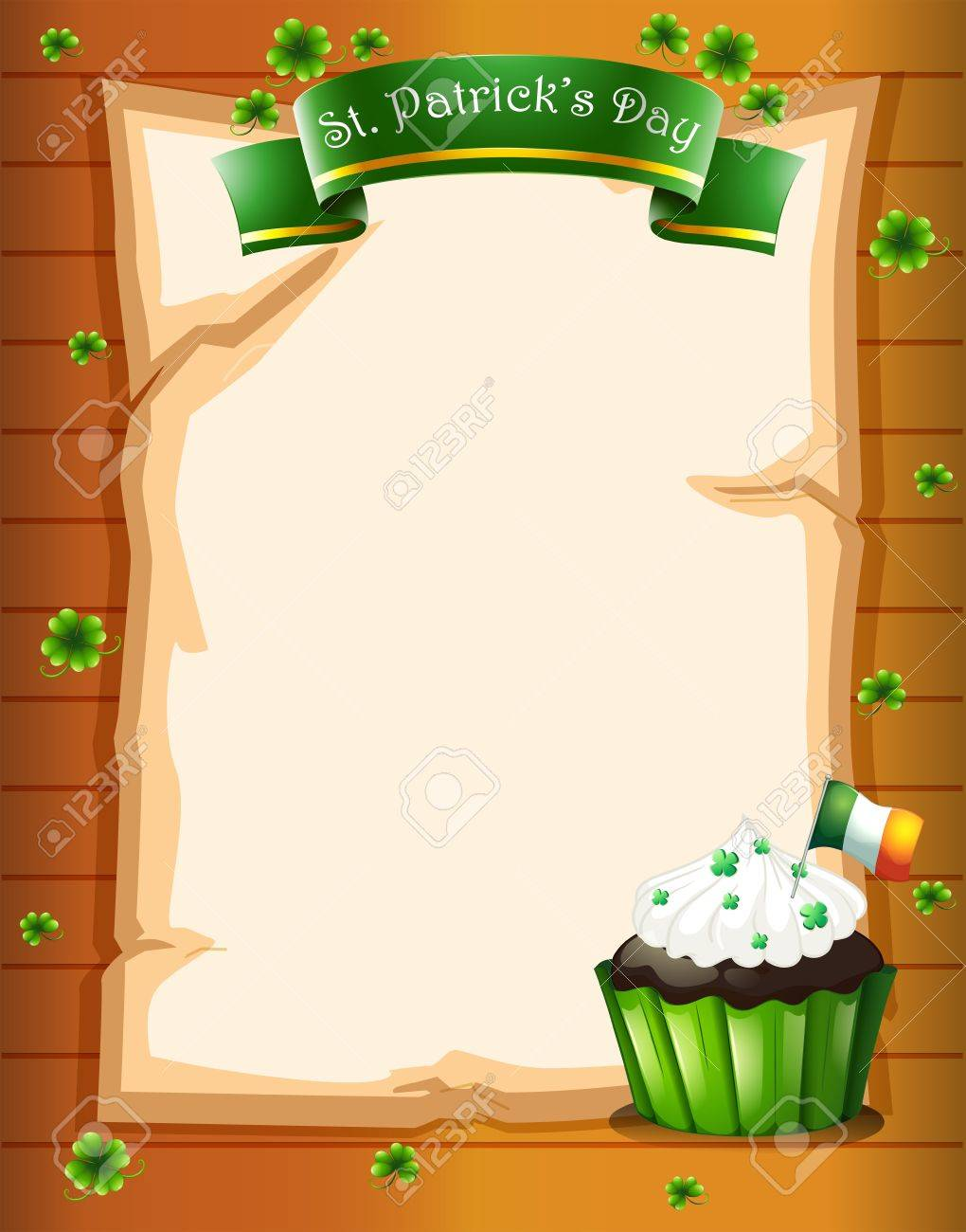 Illustration of a St. Patrick's day stationery Stock Vector - 18825221