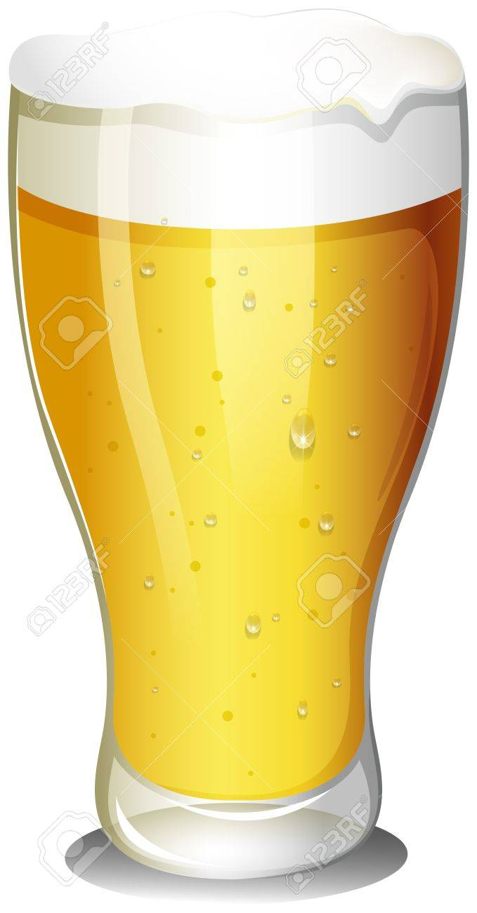 Illustration of a glass of cold beer on a white background Stock Vector - 18859689