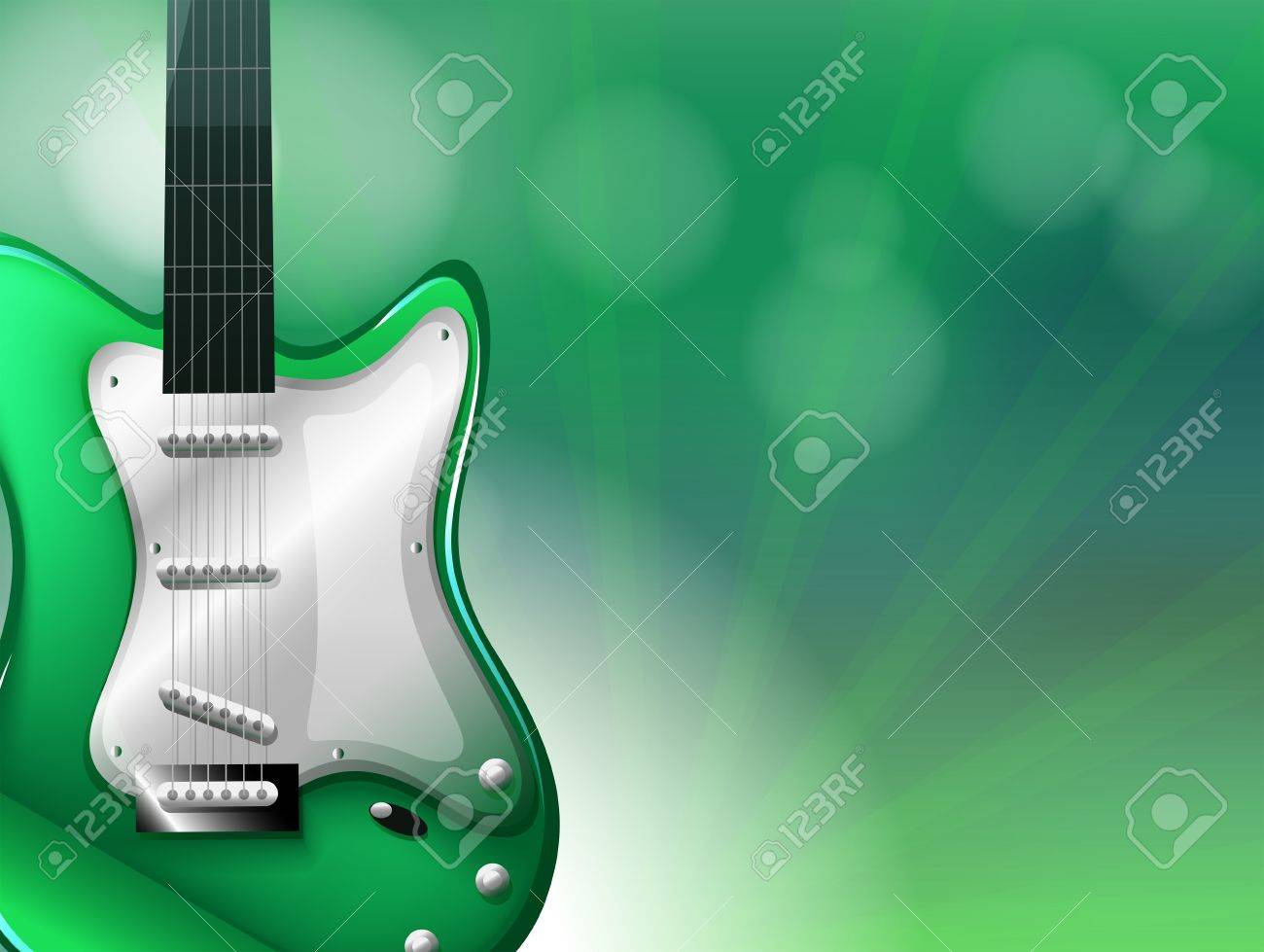 Illustration of a stationery with a guitar Stock Vector - 18859699
