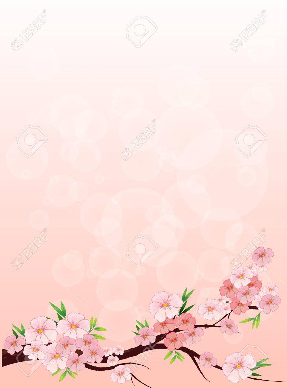 Ilustracion De Un Papel Floreado Disenado Ilustraciones