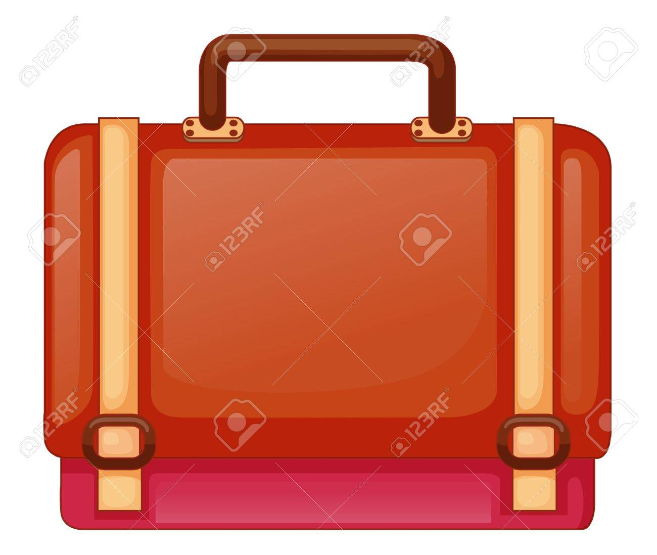 Illustration of a red bag on a white background Stock Vector - 18980965