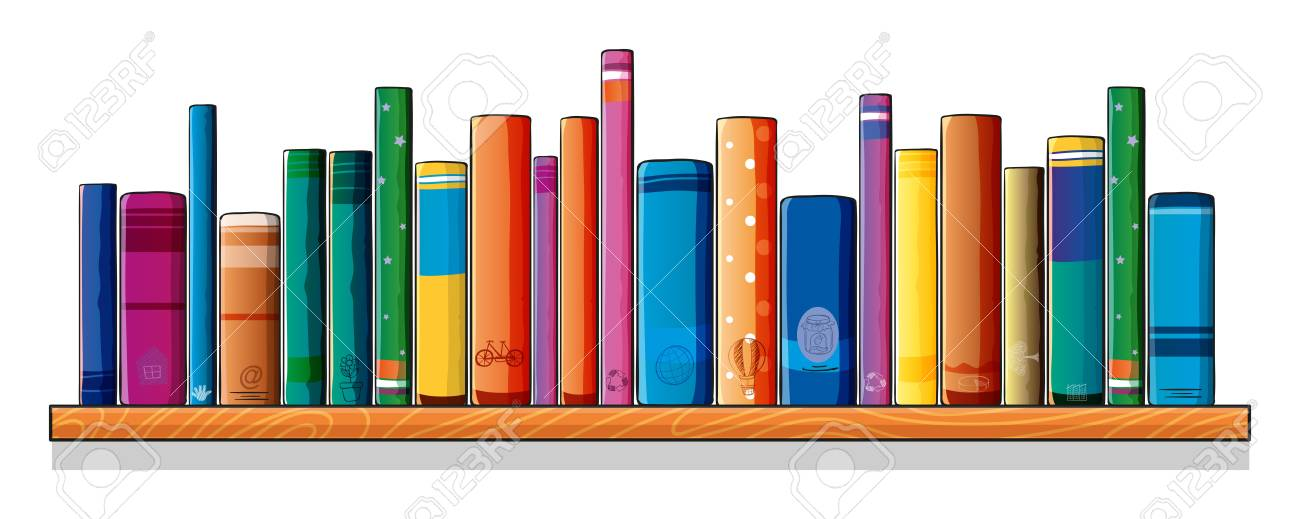 Illustration of a set of different books on a white background Stock Vector - 19301432
