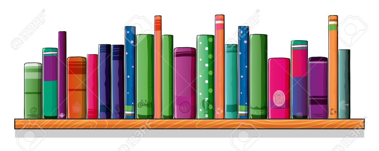 ilustracin de una estantera llena de libros foto de archivo