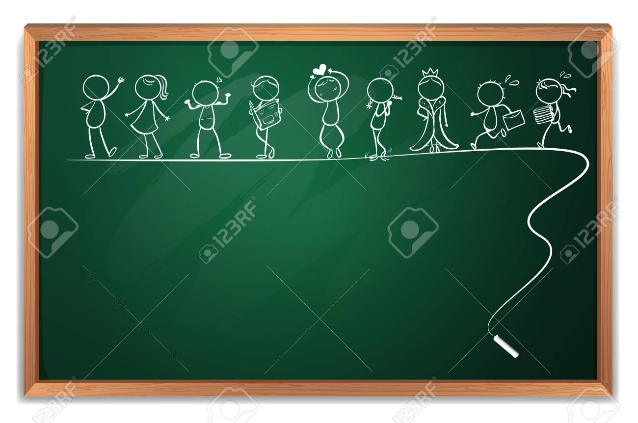 Illustration of a blackboard with a doodle art on a white background Stock Vector - 20272840
