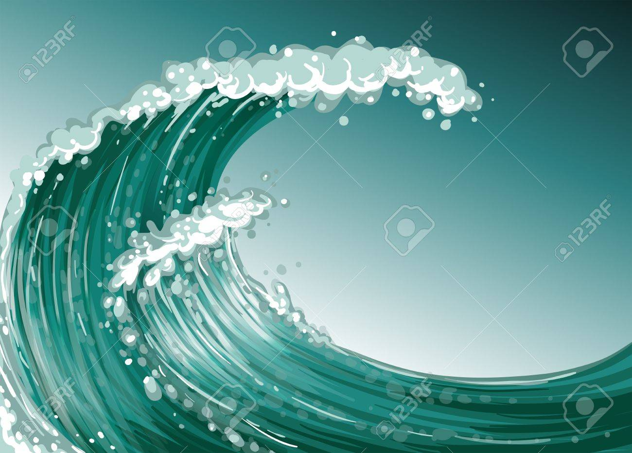 Illustration of a high wave at the sea Stock Vector - 20366669