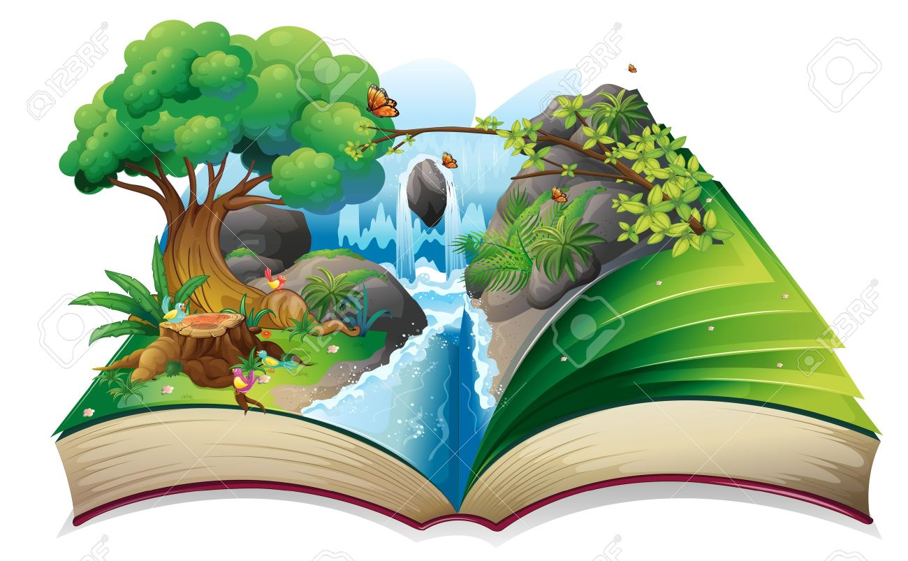 Illustration Of A Storybook With An Image Of The Gift Of Nature ...