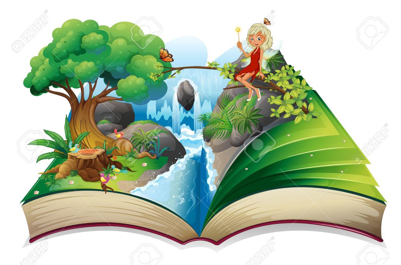 Illustration Conte De Fée illustration d'un conte de fées avec une image de la nature et une