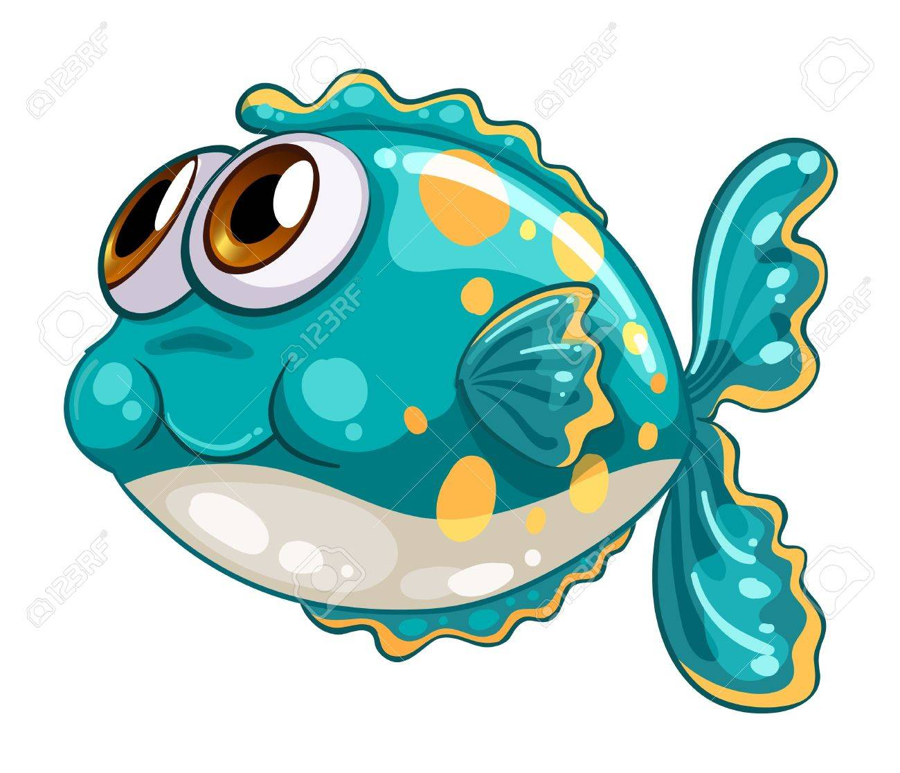 Illustration of a bubble fish on a white background Stock Vector - 21095147
