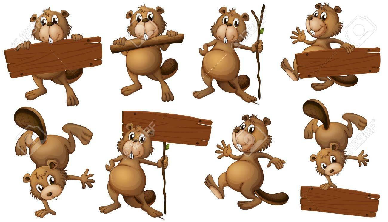 2 820 beaver cartoon cliparts stock vector and royalty free