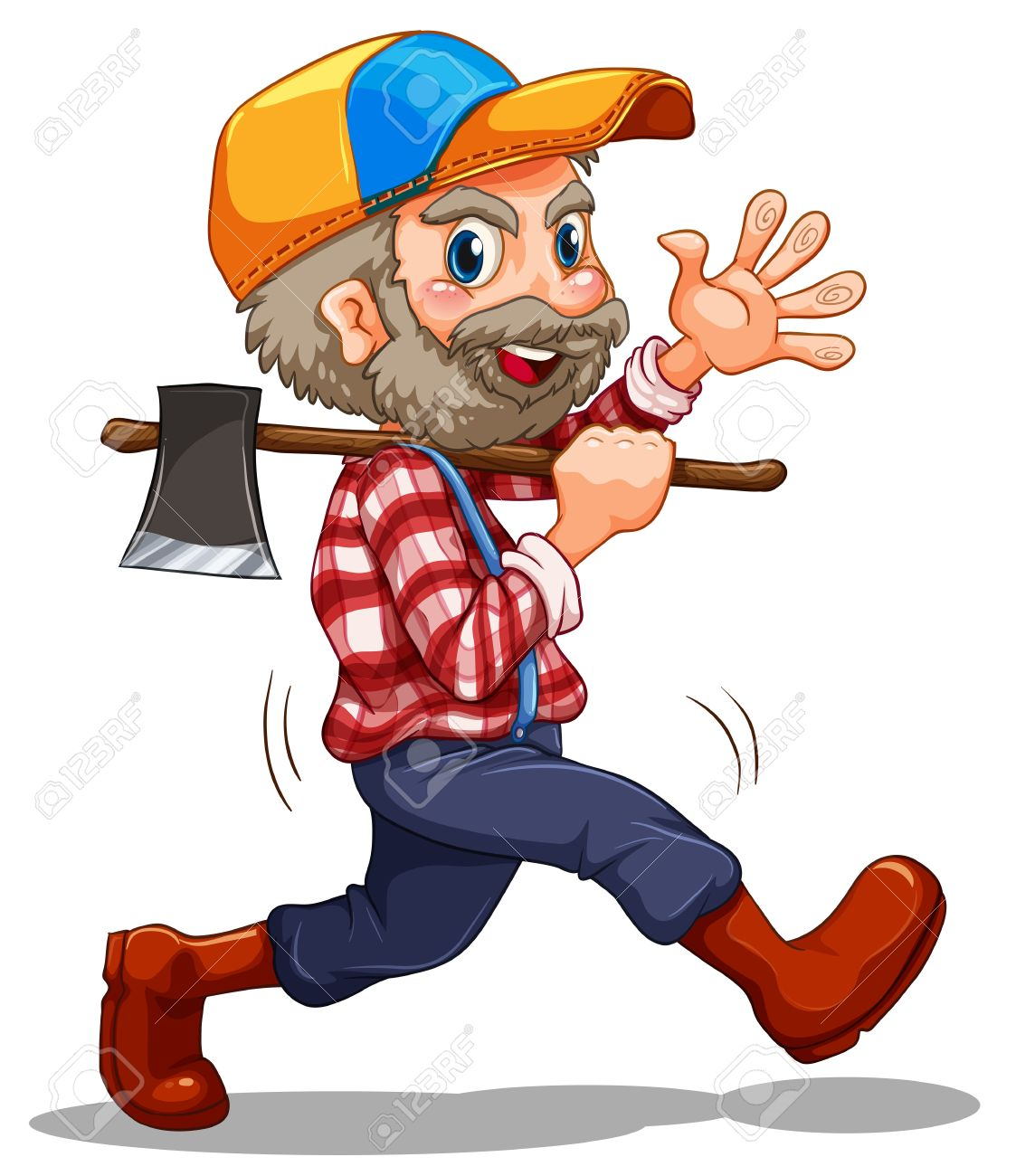 Illustration of a lumberjack on a white background Stock Vector - 22065757