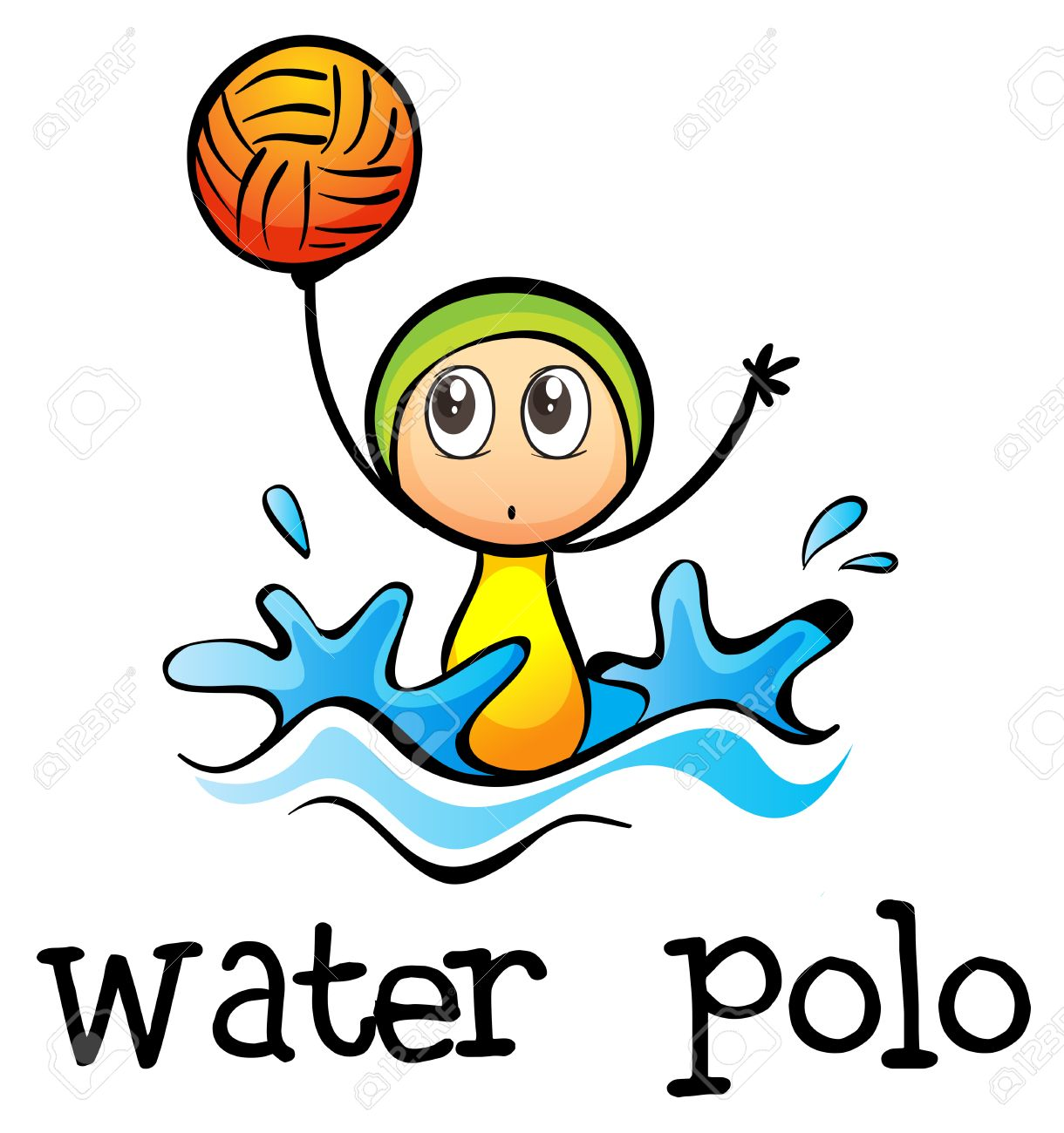 illustration of a stickman playing water polo on a white background rh 123rf com water polo ball clip art free water polo clipart