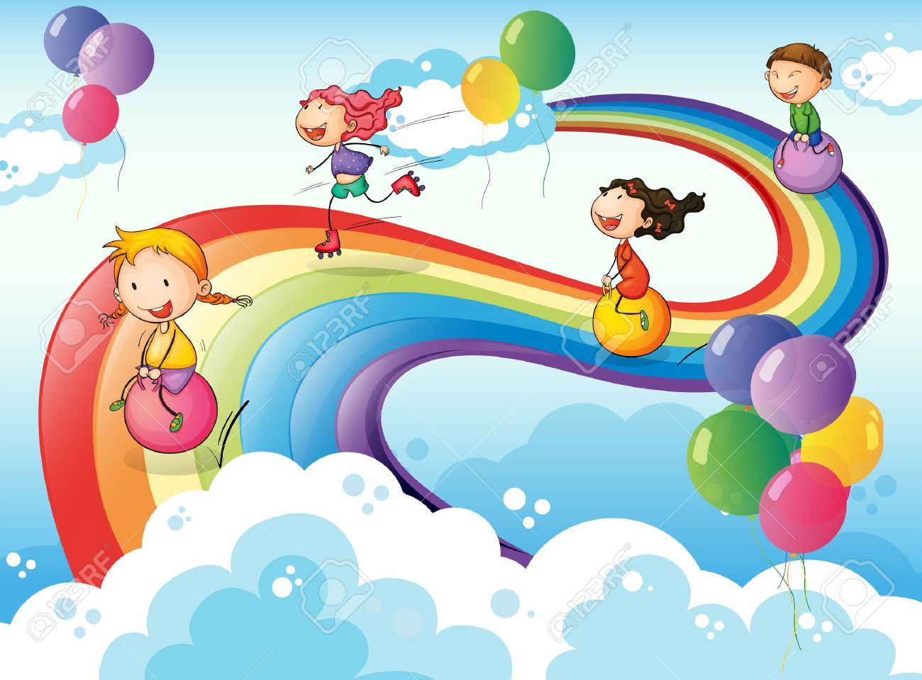 rainbow kids stock photos royalty free rainbow kids images and