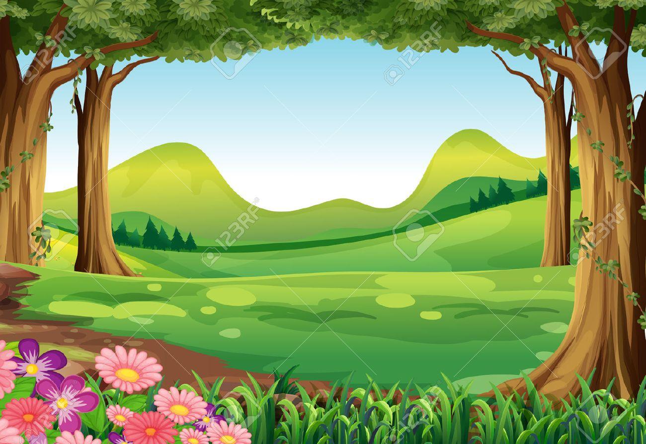 緑の森のイラストのイラスト素材ベクタ Image 28203890