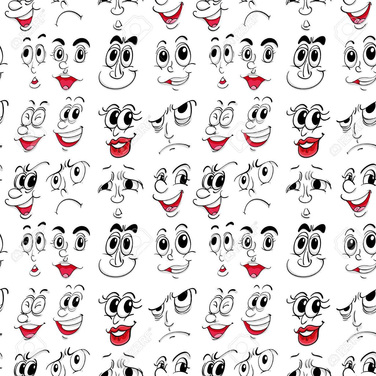 顔の表情のイラストのイラスト素材ベクタ Image 31216080