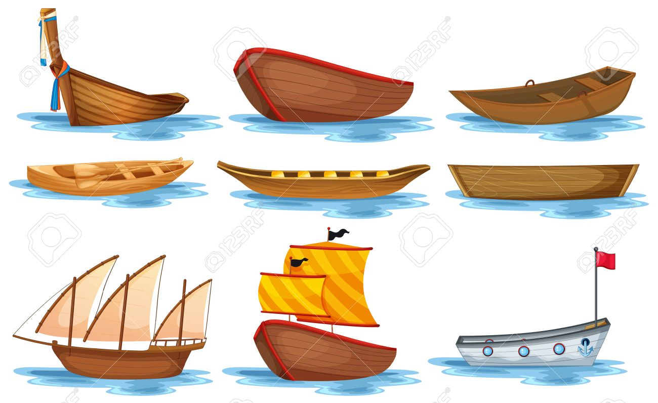illustration of different kind of boats royalty free cliparts rh 123rf com boat clipart pictures boots clip art free