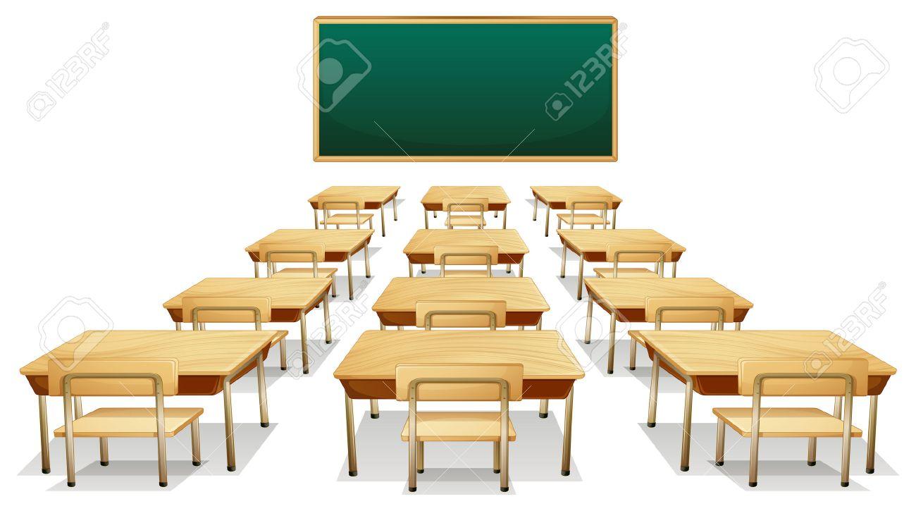 Empty cartoon classroom background - Illustration Of An Empty Classroom Stock Vector 31513926