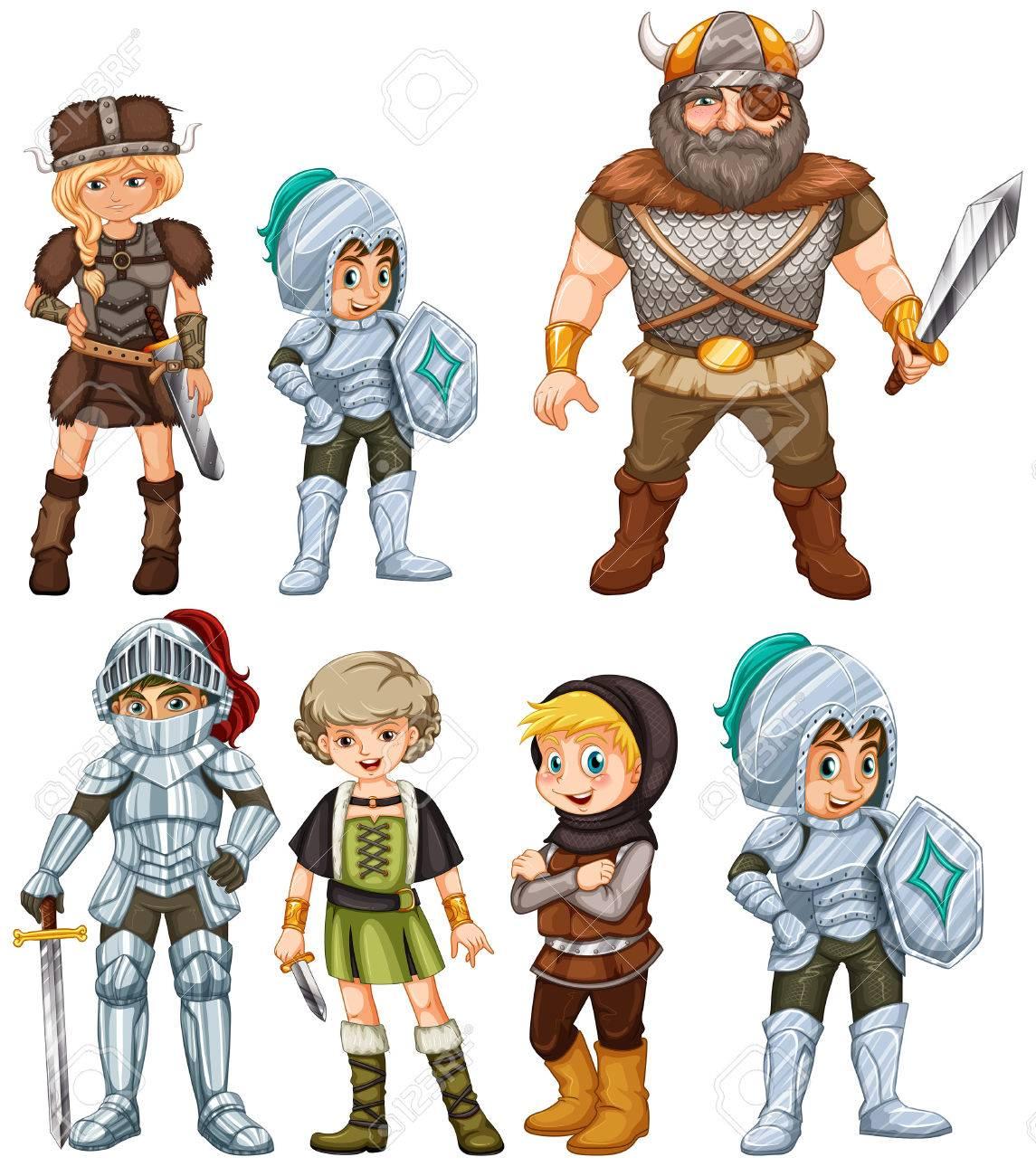 騎士と戦士のイラストのイラスト素材ベクタ Image 31923155