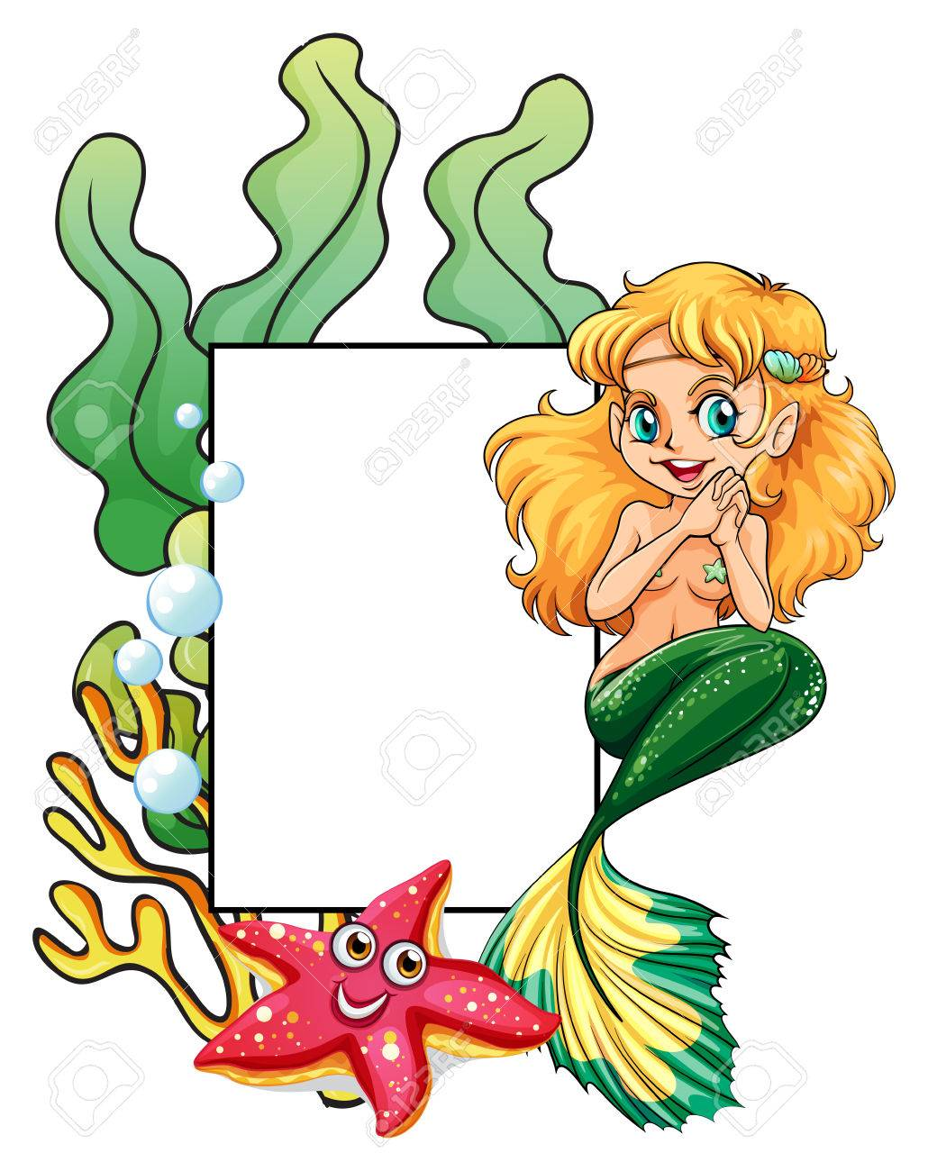 illustration of a mermaid template royalty free cliparts vectors
