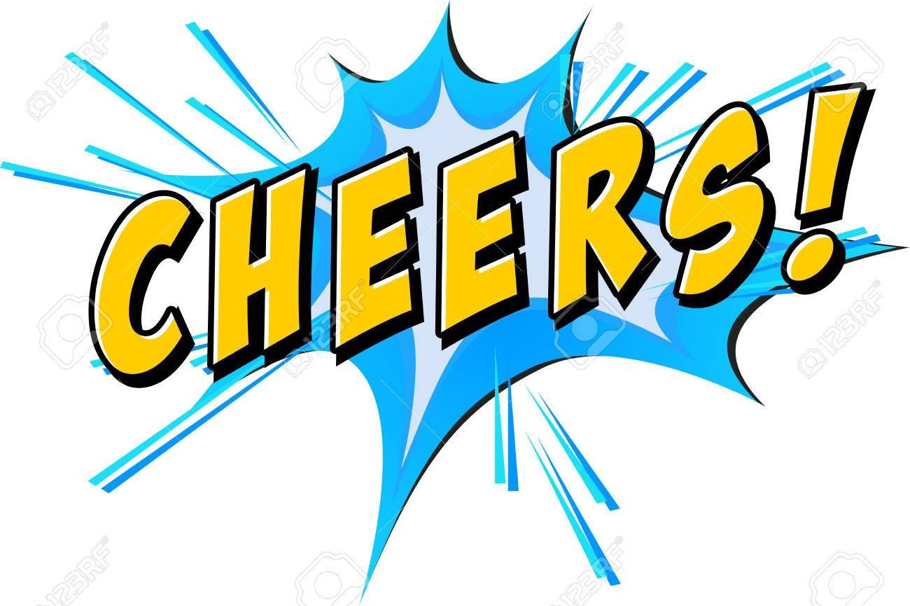 cheers text with blue flash royalty free cliparts vectors and rh 123rf com cheer clip art free images cheer clip art free images