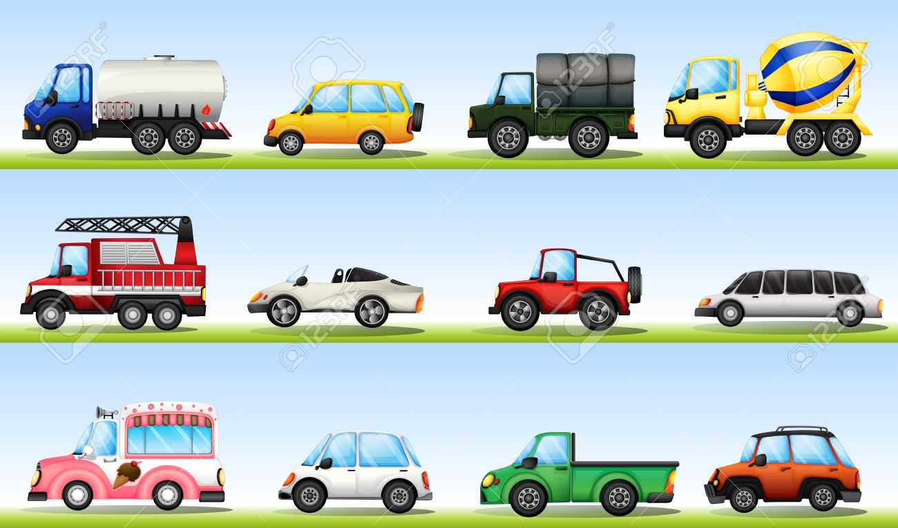 Different Types Of Vehicles >> Different Types Of Vehicles For Diefferent Purposes Royalty Free