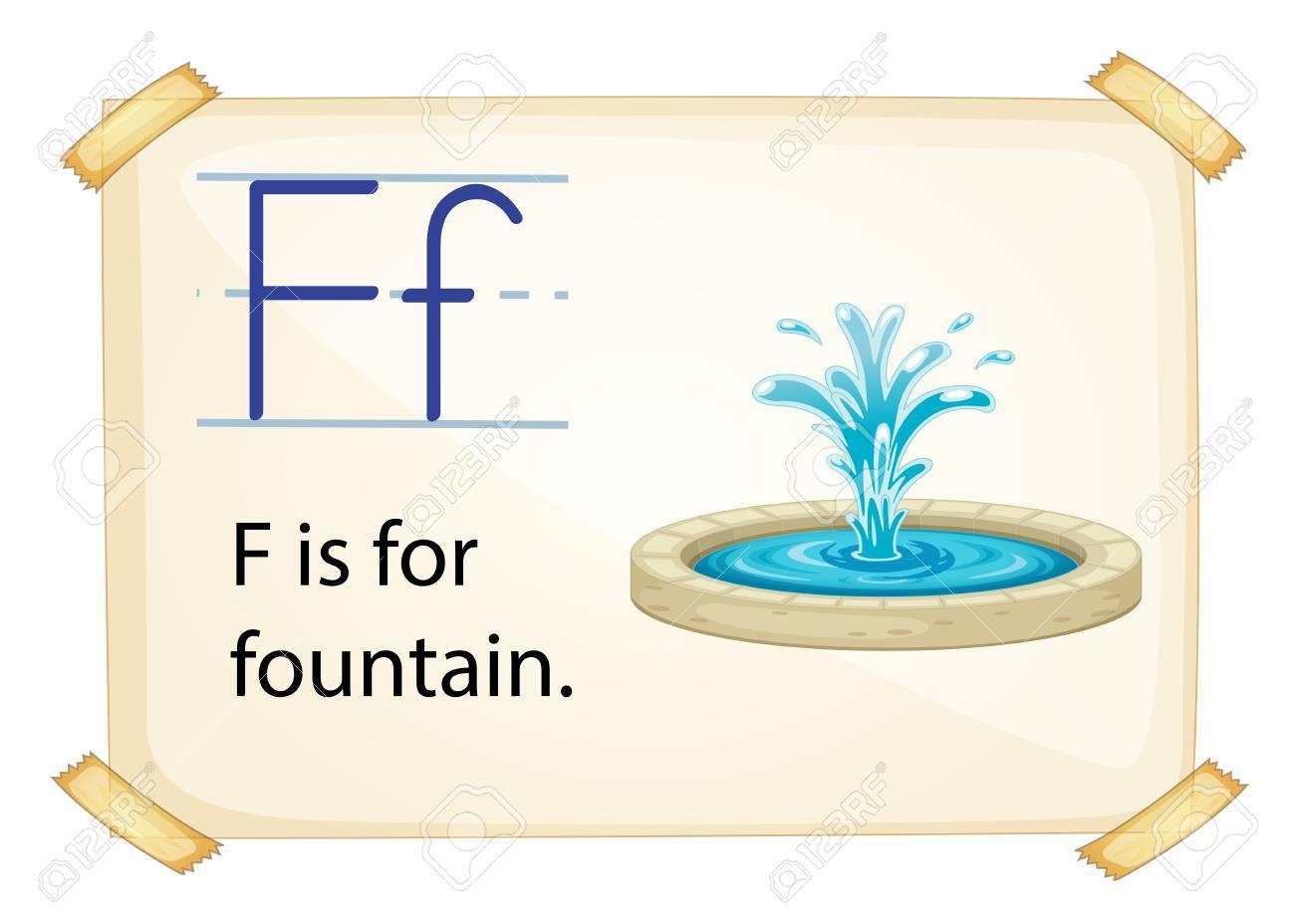 Poster of an alphabet F Stock Vector - 34140180