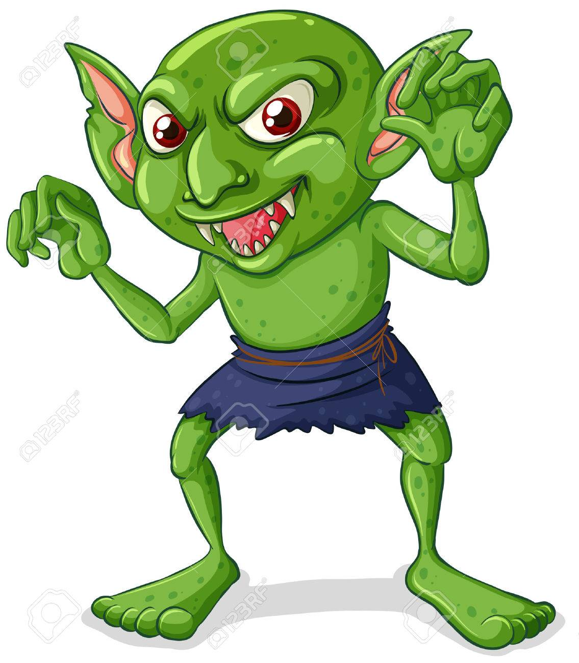 illustration of a green goblin royalty free cliparts vectors and