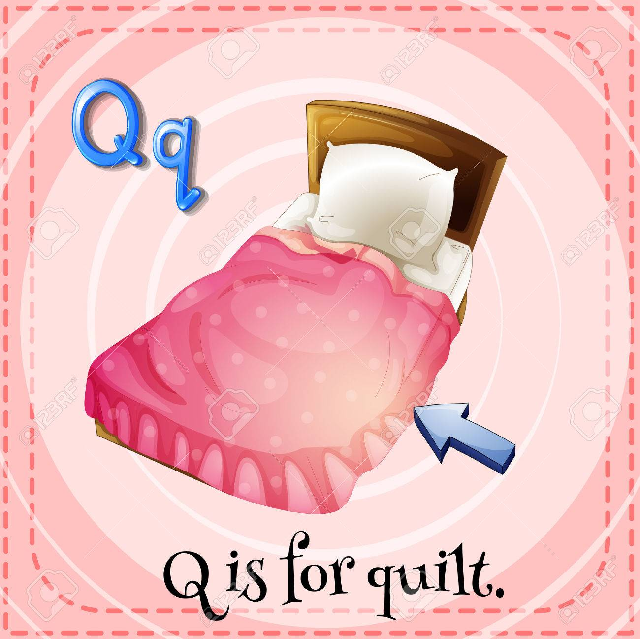 Illustration Of A Letter Q Is For Quilt Royalty Free Cliparts ... : q is for quilt - Adamdwight.com