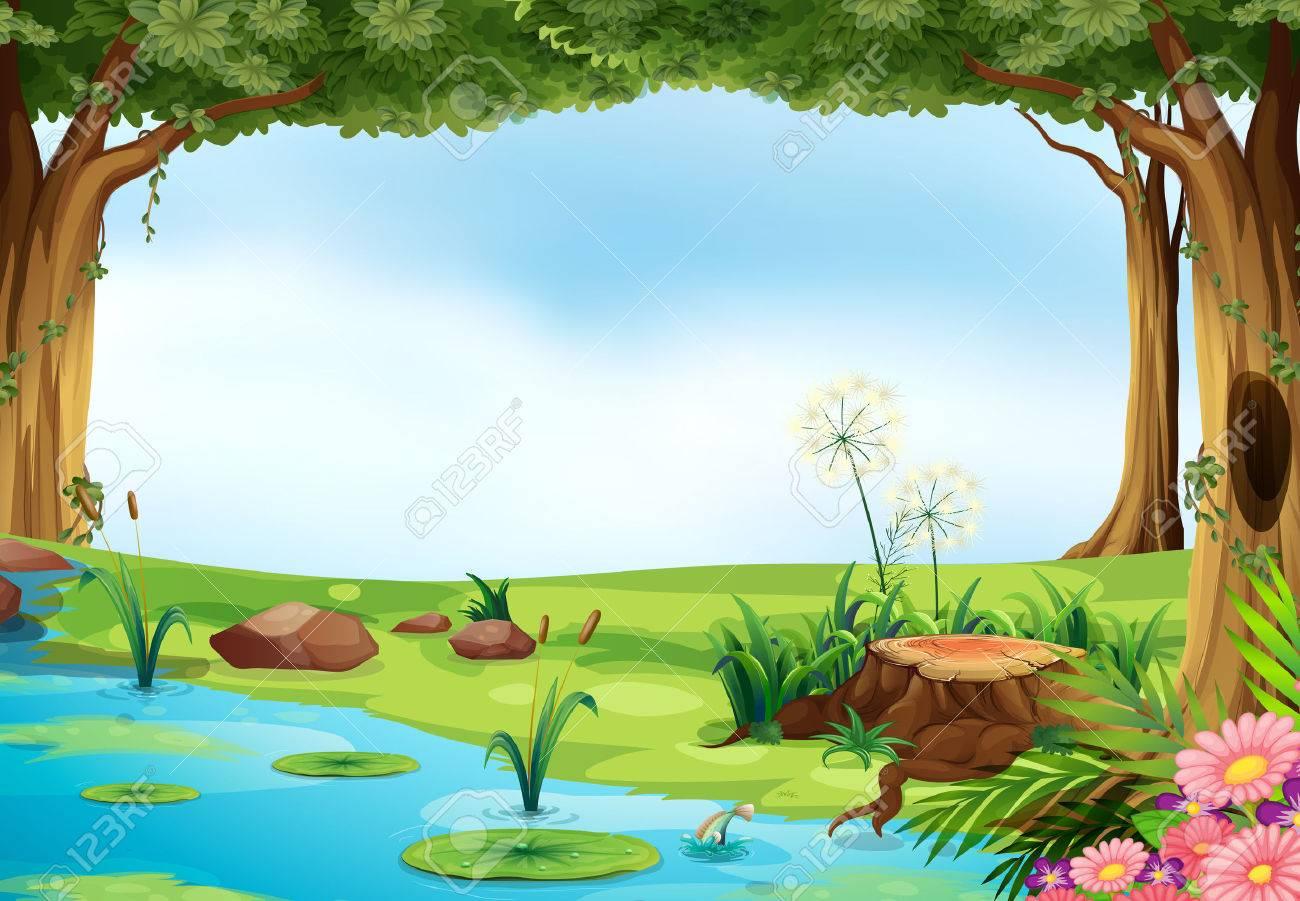 Pond Clip Art - Royalty Free - GoGraph
