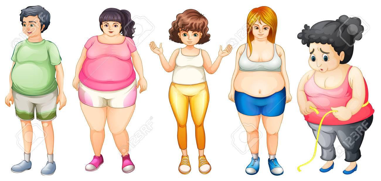 立っている太った人のイラストのイラスト素材ベクタ Image 36011729