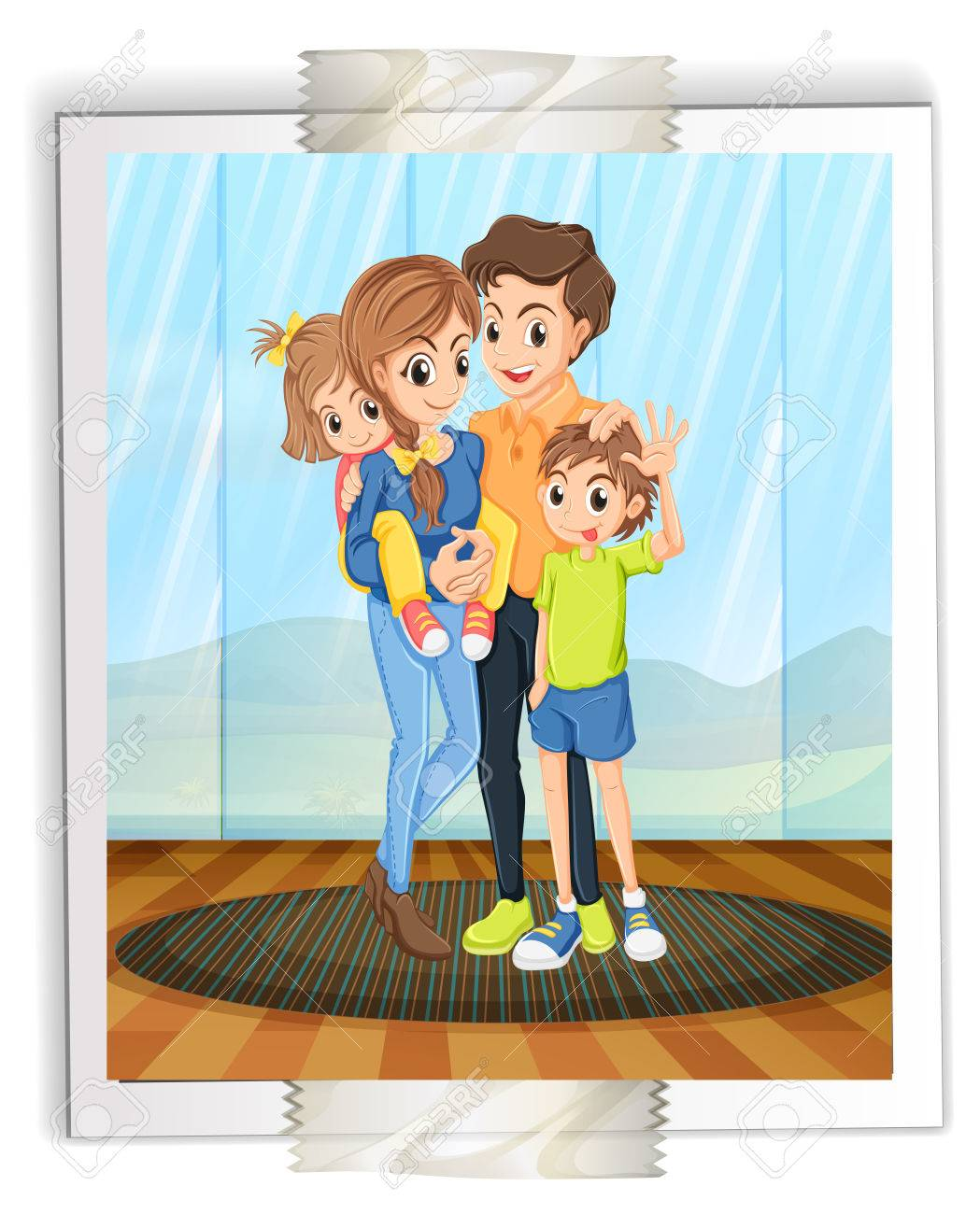illustration of a photograph of a lovely family royalty free rh 123rf com photographic clip art photography clip art graphics
