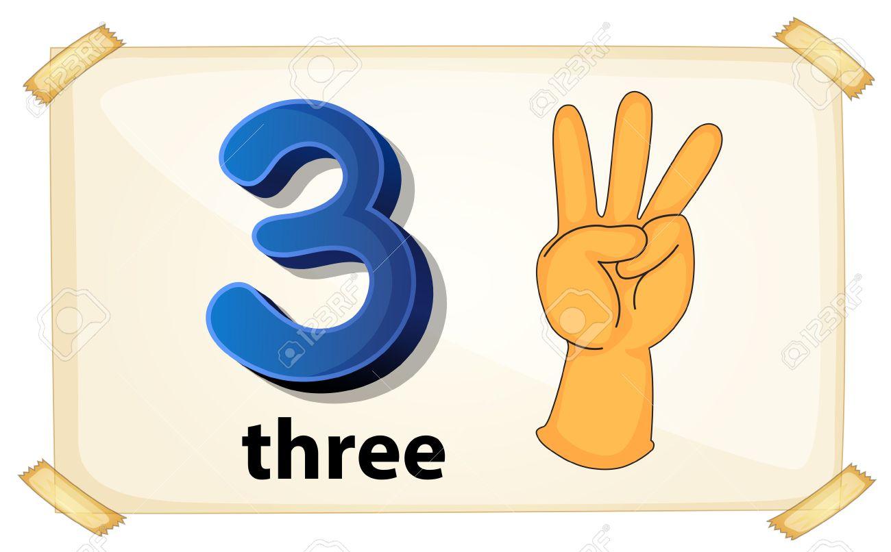 illustration of a flashcard number three royalty free cliparts rh 123rf com three clipart boys three clipart boys