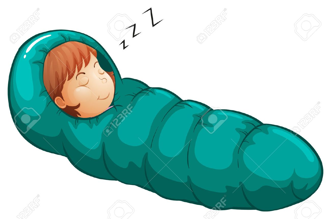 Clip Art Sleeping Bag Clipart illustration of a girl in sleeping bag royalty free cliparts stock vector 36770123