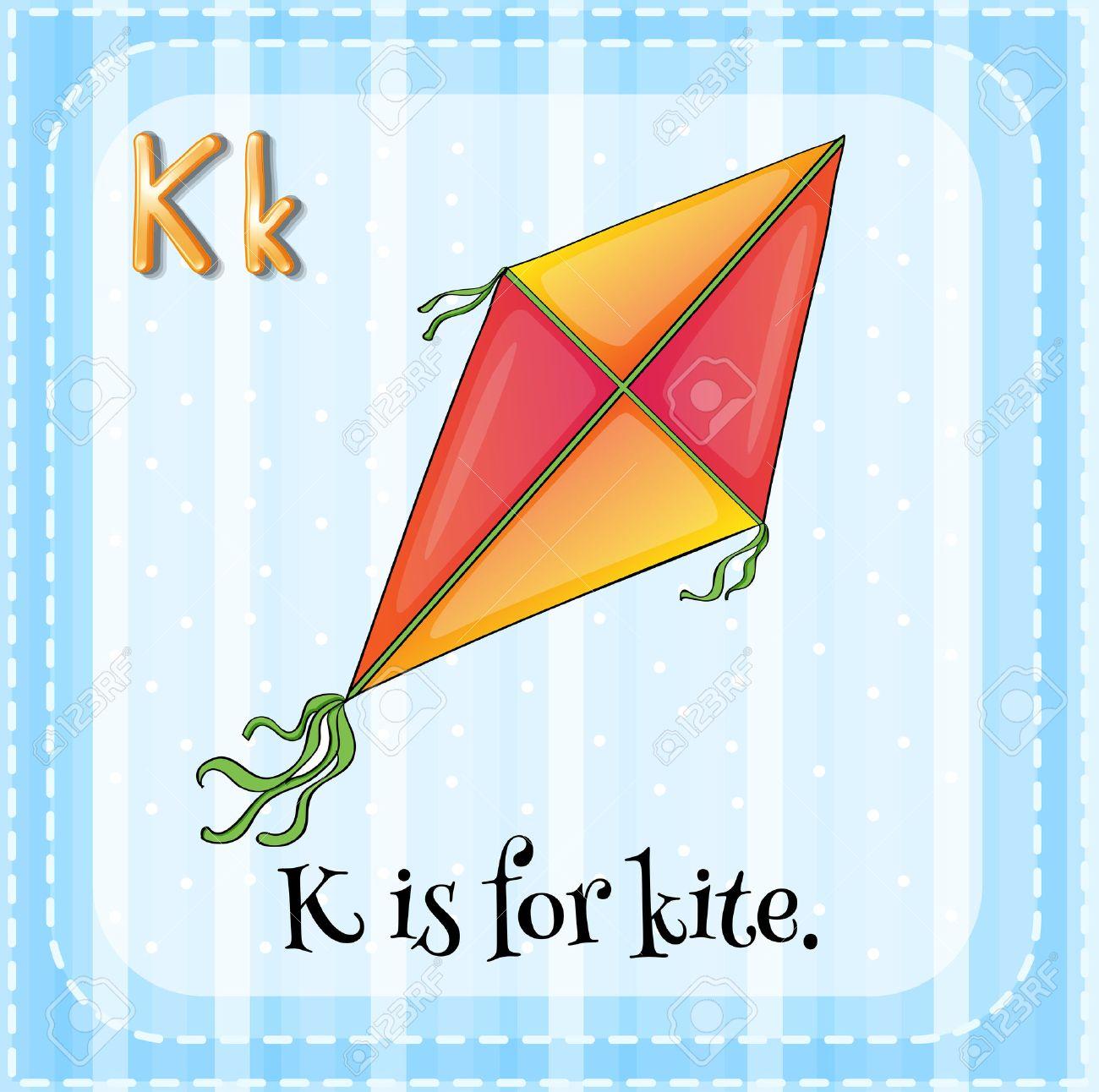 Alphabet K is for kite - 37012242