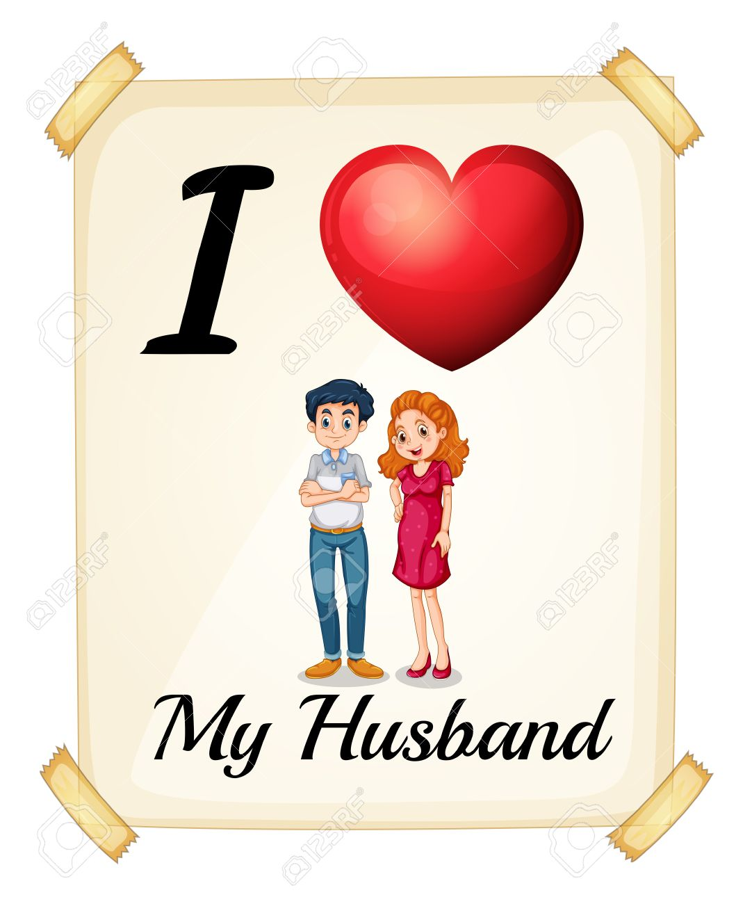 I Love My Husband Sign Royalty Free Cliparts Vectors And Stock