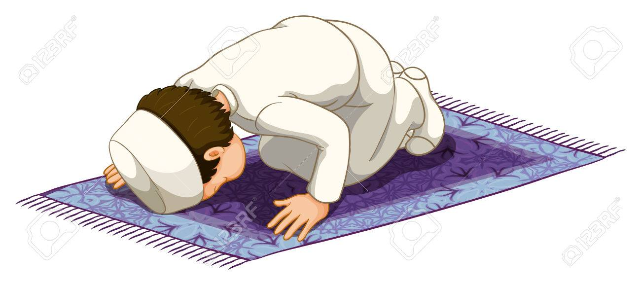 "Parent ""extremely uncomfortable"" having her children ""bow to that picture on the wall"" - Page 2 38107117-Muslim-praying-on-the-carpet-Stock-Vector-cartoon"