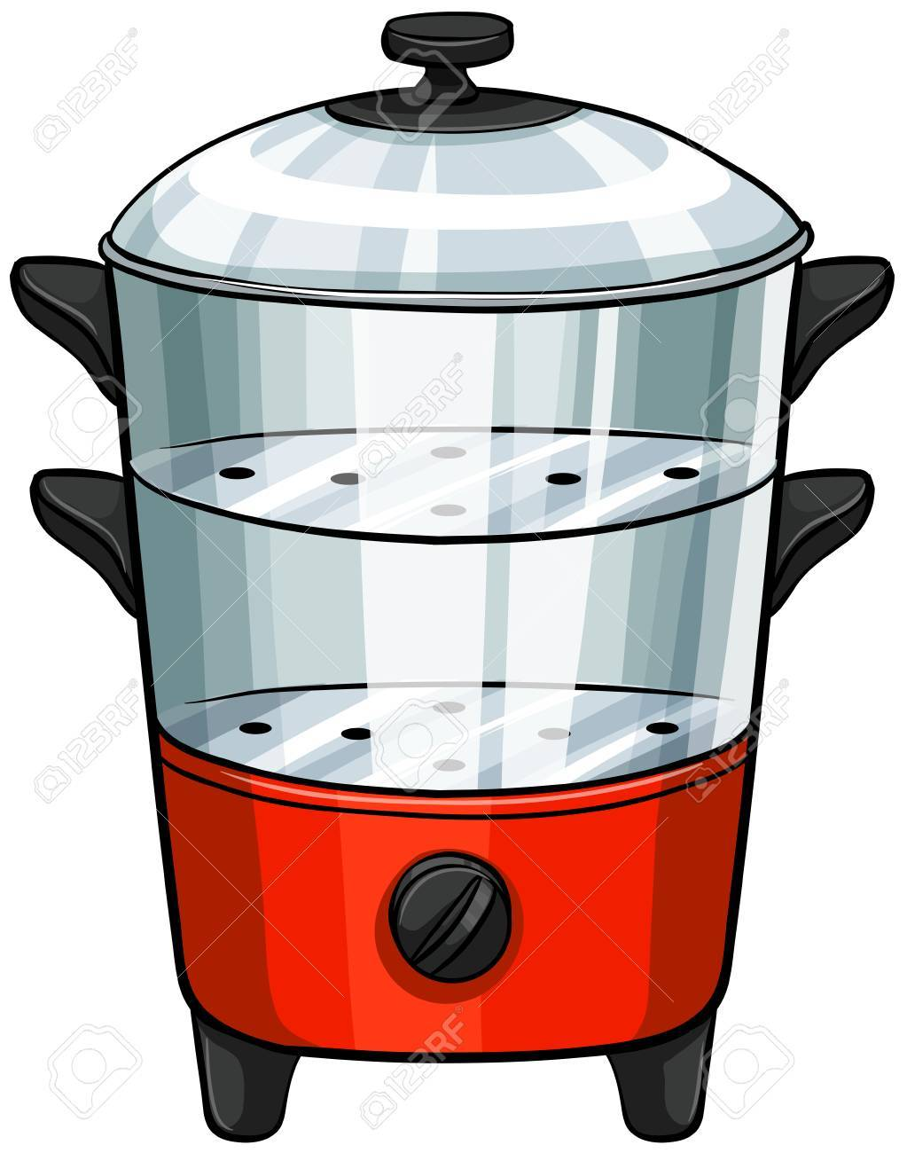 Close Up Steamer In Double Layers Royalty Free Cliparts, Vectors ...