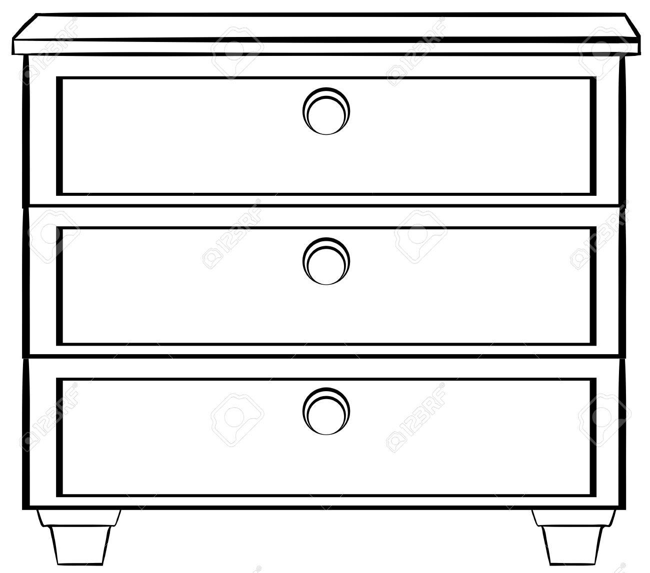 Close Up Plain Wooden Drawers