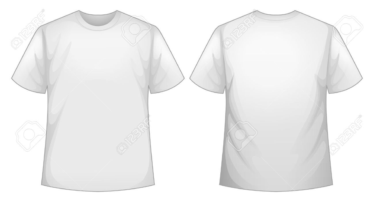 Front And Back View Of White Shirt Royalty Free Cliparts, Vectors ...