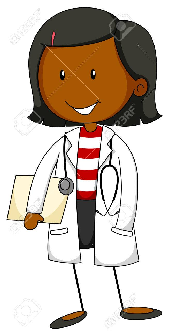 female doctor in uniform with a stethoscope royalty free cliparts rh 123rf com beautiful female doctor clipart female doctor clipart images