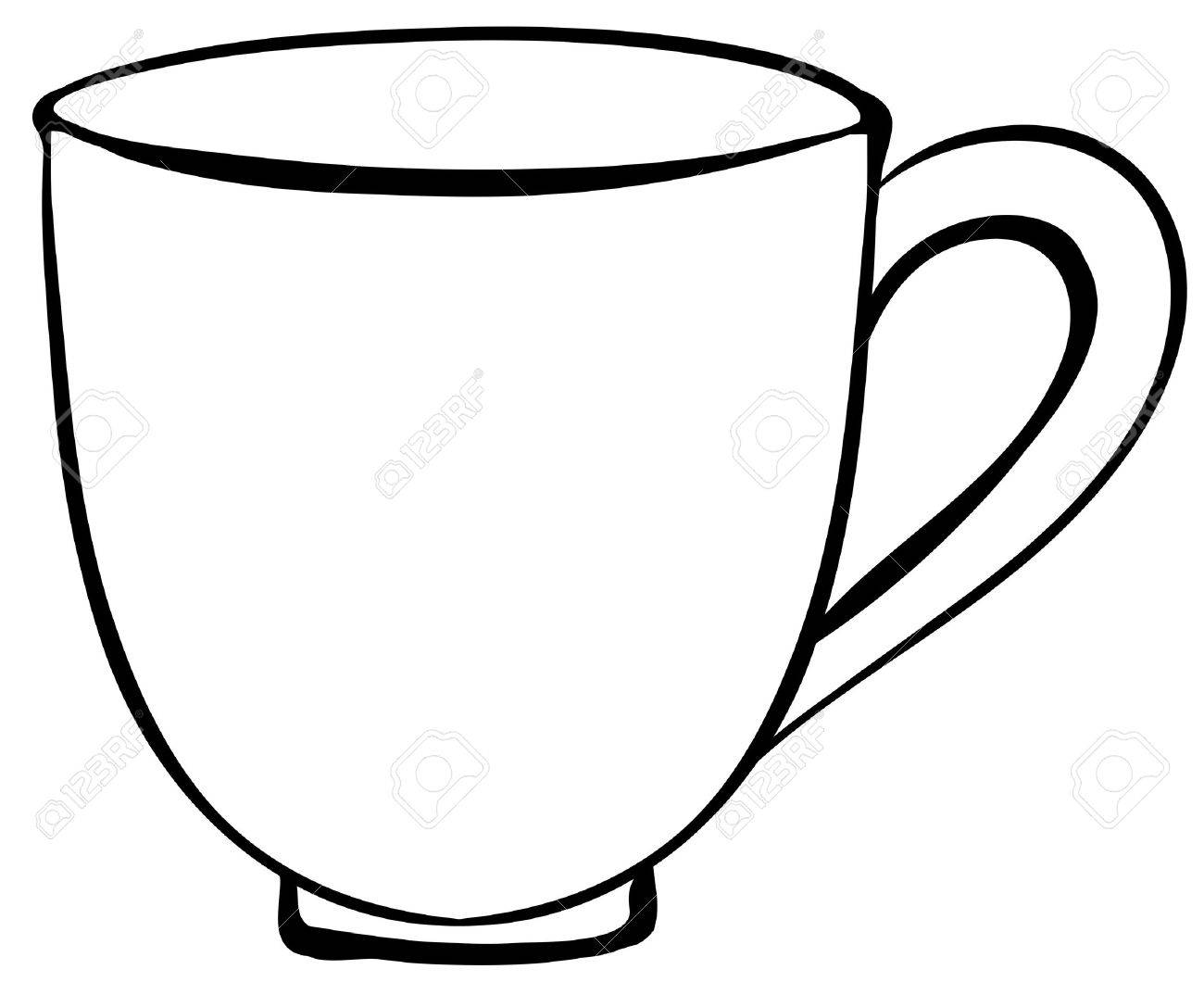 closeup plain design of coffee cup royalty free cliparts vectors rh 123rf com cup clipart outline cup clipart images