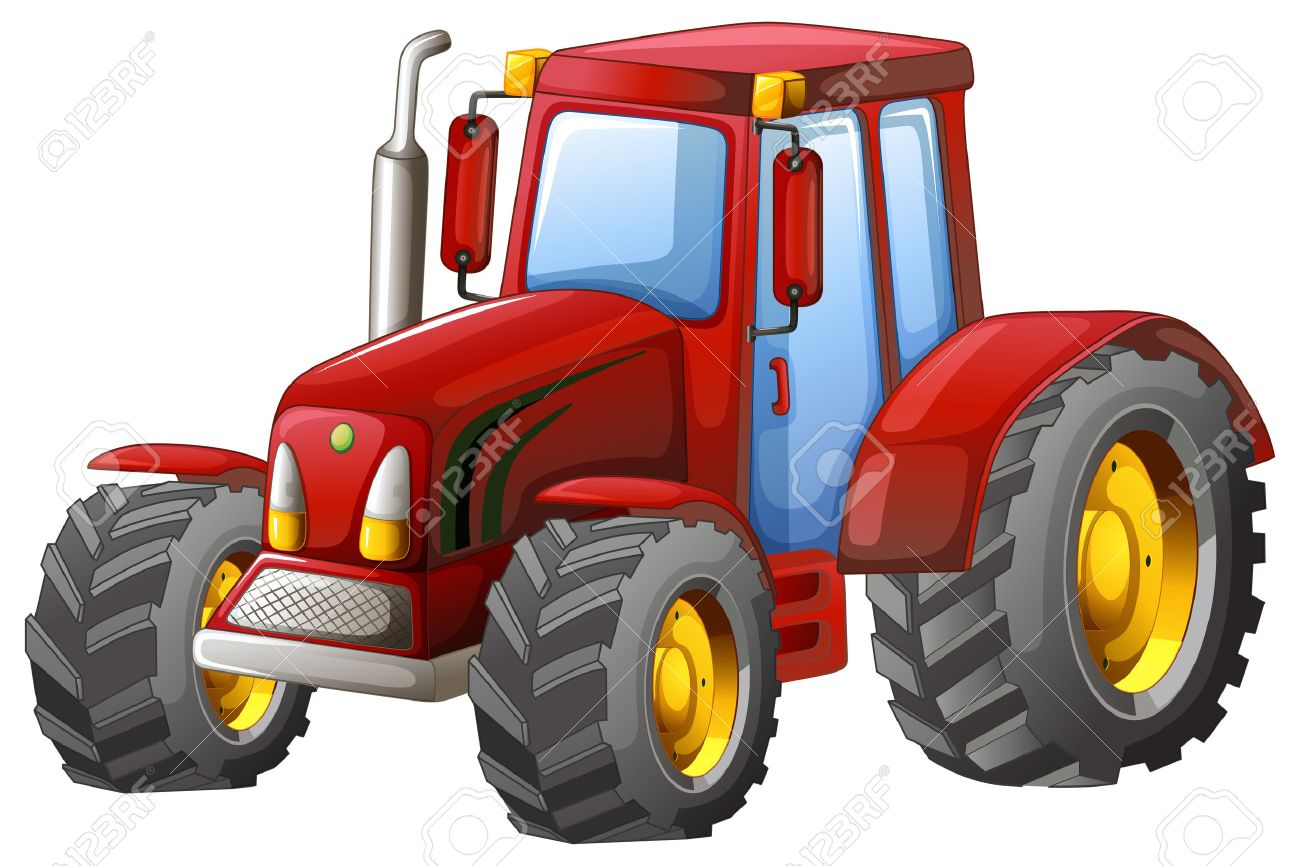 Close up plain red tractor - 39769195
