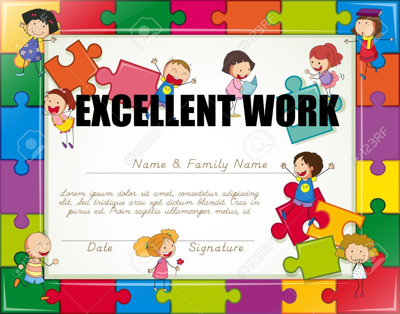 Kids Certificate Border Engneforic