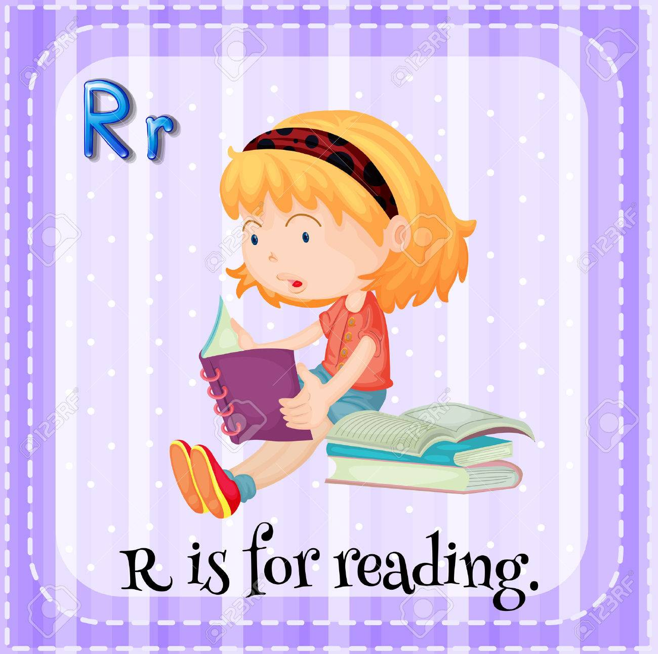 Worksheets Flash Card For Reading flashcard letter r is for reading royalty free cliparts vectors stock vector 40330883