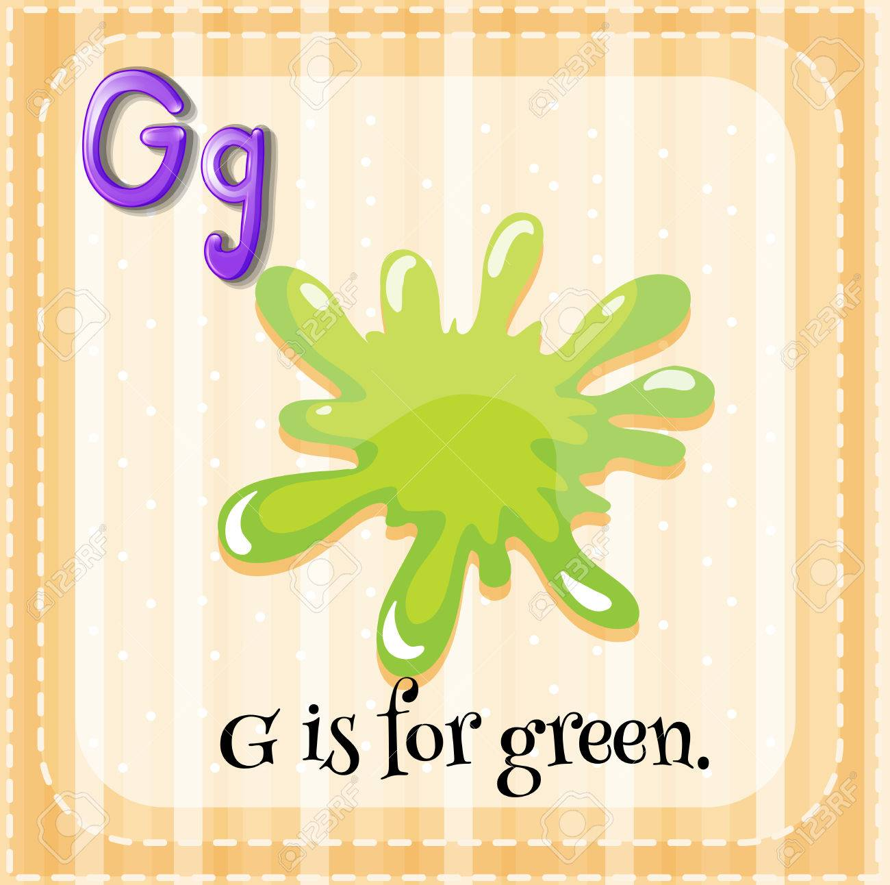 Flashcard Of Letter G With Color Green Royalty Free Cliparts ...
