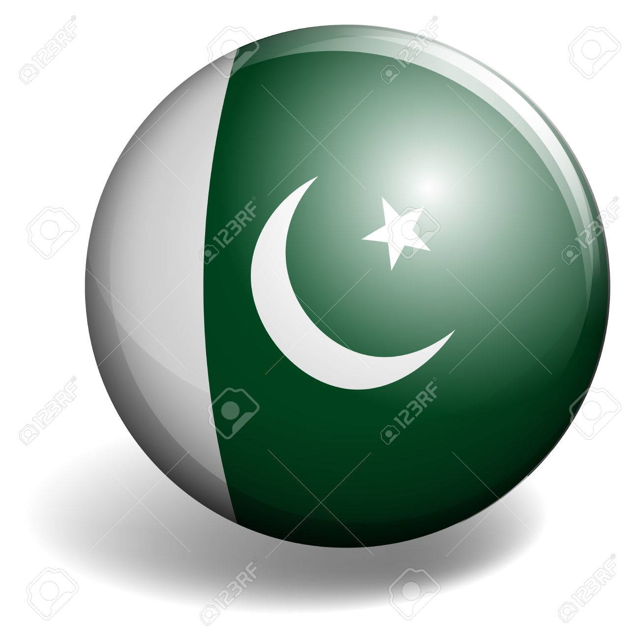 round badge with flag of pakistan country royalty free cliparts