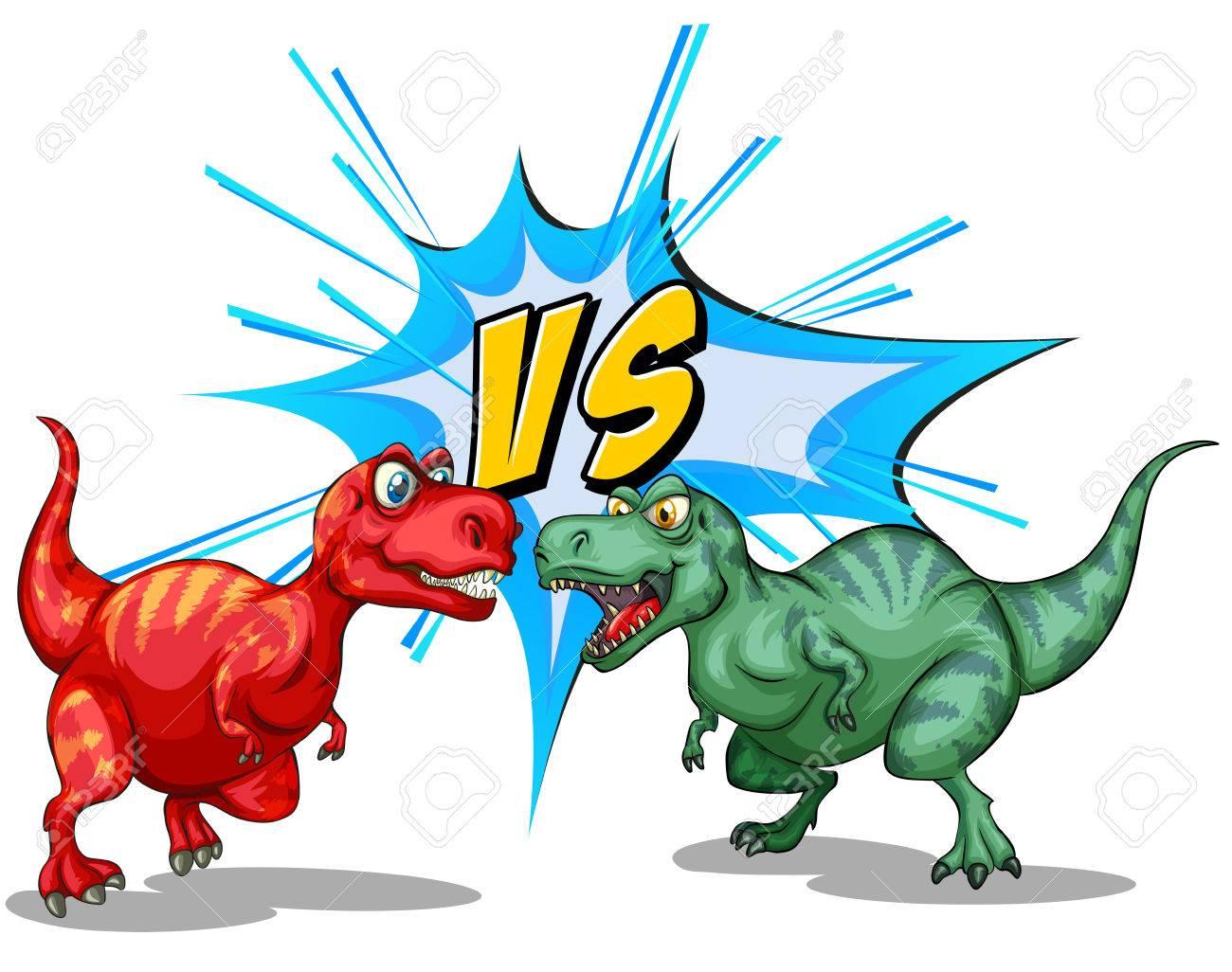 Dinosaurs Fighting Dinosaur Cartoons For Children Big Animal S Kids