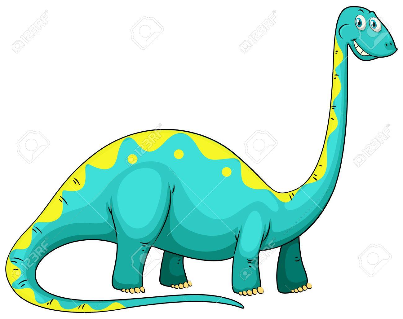 blue dinosaur with long neck illustration royalty free cliparts rh 123rf com dino clipart dino clipart